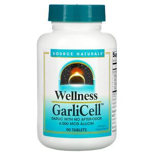 Сорс Начэралс, Wellness, GarliCell, 6,000 mcg, 90 Tablets отзывы