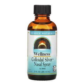 Source Naturals, Wellness, Colloidal Silver Nasal Spray, 10 PPM, 2 fl oz (59.14 ml)