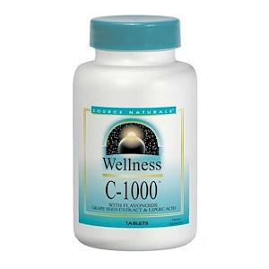 Сорс Начэралс, Wellness, C-1000, 100 Tablets отзывы