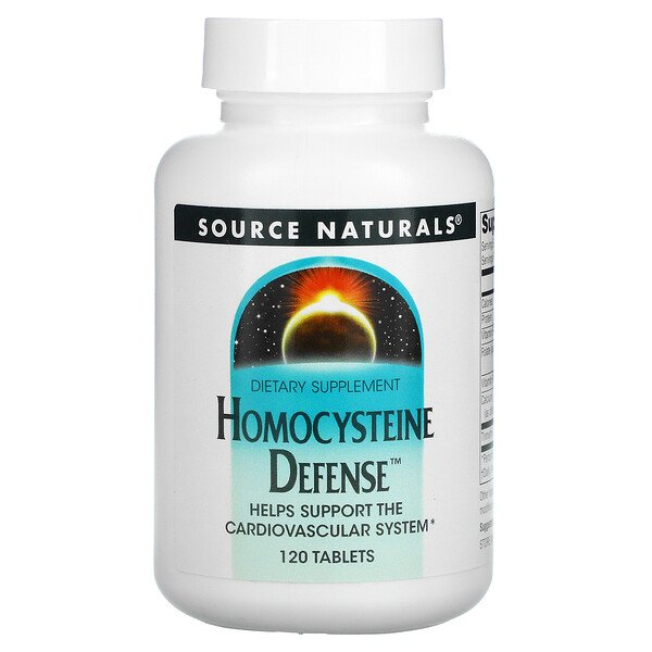 Source Naturals, Defensa Homocisteína, 120 Tabletas