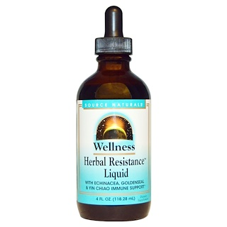 Source Naturals, Wellness, Herbal Resistance Liquid, 4 fl oz (118.28 ml)