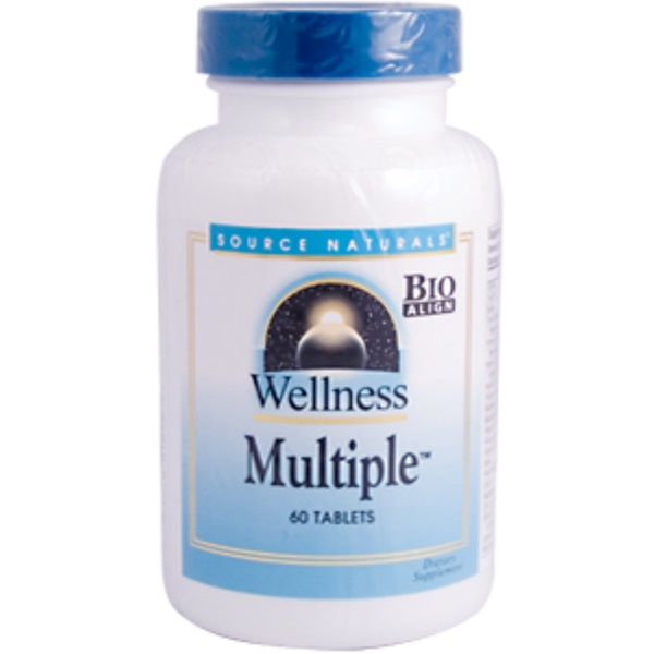 Source Naturals, Wellness Multiple, 60 Tablets (Discontinued Item)