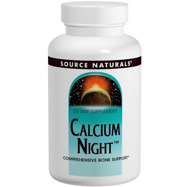 Source Naturals, Calcium Night, 240 Tablets (Discontinued Item)