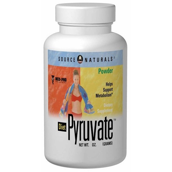 Source Naturals, Diet Pyruvate, 750 mg, 60 Capsules (Discontinued Item)