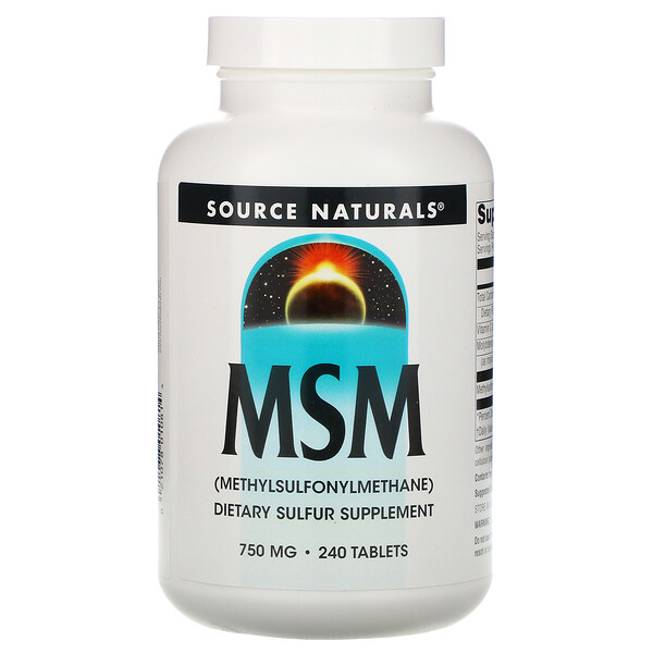 MSM (Methylsulfonylmethane), 750 mg, 240 Tablets