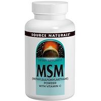 МСМ (метилсульфонилметан) в порошке, с витамином C, 8 унций (227 г) - фото