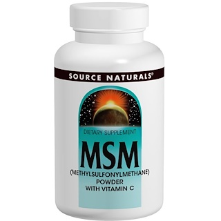 Source Naturals, MSM (Methylsulfonylmethane) Powder, with Vitamin C, 8 oz (227 g)