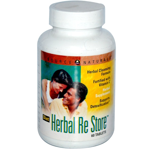 Source Naturals, Diet Herbal Re Store, 60 Tablets (Discontinued Item)