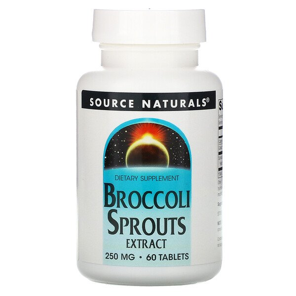Source Naturals, Broccoli Sprouts Extract, 250 mg, 60 Tablets