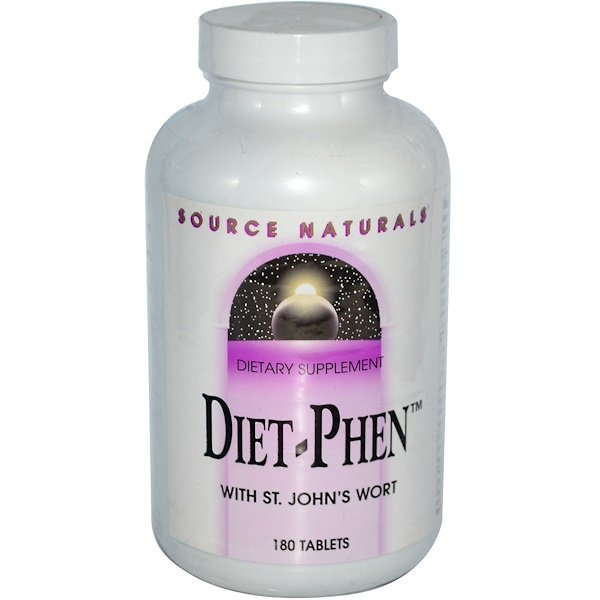 Source Naturals, Diet-Phen, with St. John's Wort, 180 Tablets (Discontinued Item)