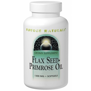 Source Naturals, Flax Seed-Primrose Oil, 1,300 mg, 180 Softgels