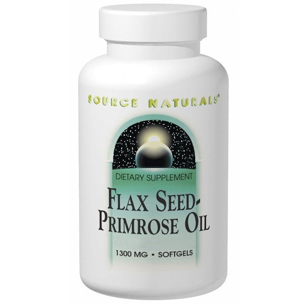 Flax Seed-Primrose Oil, 1,300 mg, 180 Softgels