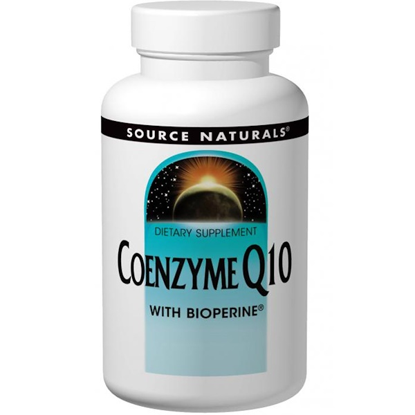 Source Naturals, Coenzyme Q10, with Bioperine, 100 mg, 60 Softgels (Discontinued Item)