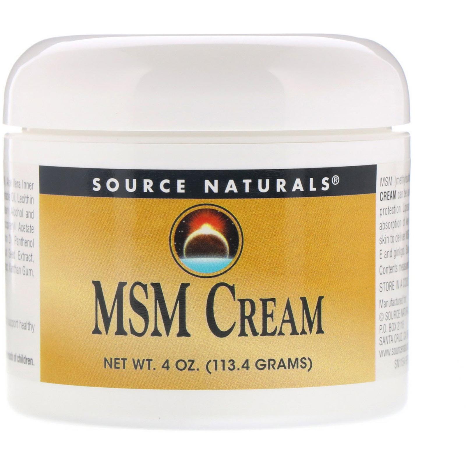Source Naturals, MSM Cream, 4 oz (113 4 g) - iHerb com