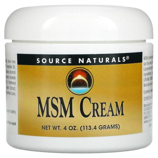 Source Naturals, MSM Cream, MSM-Creme, 113,4g (4oz.)