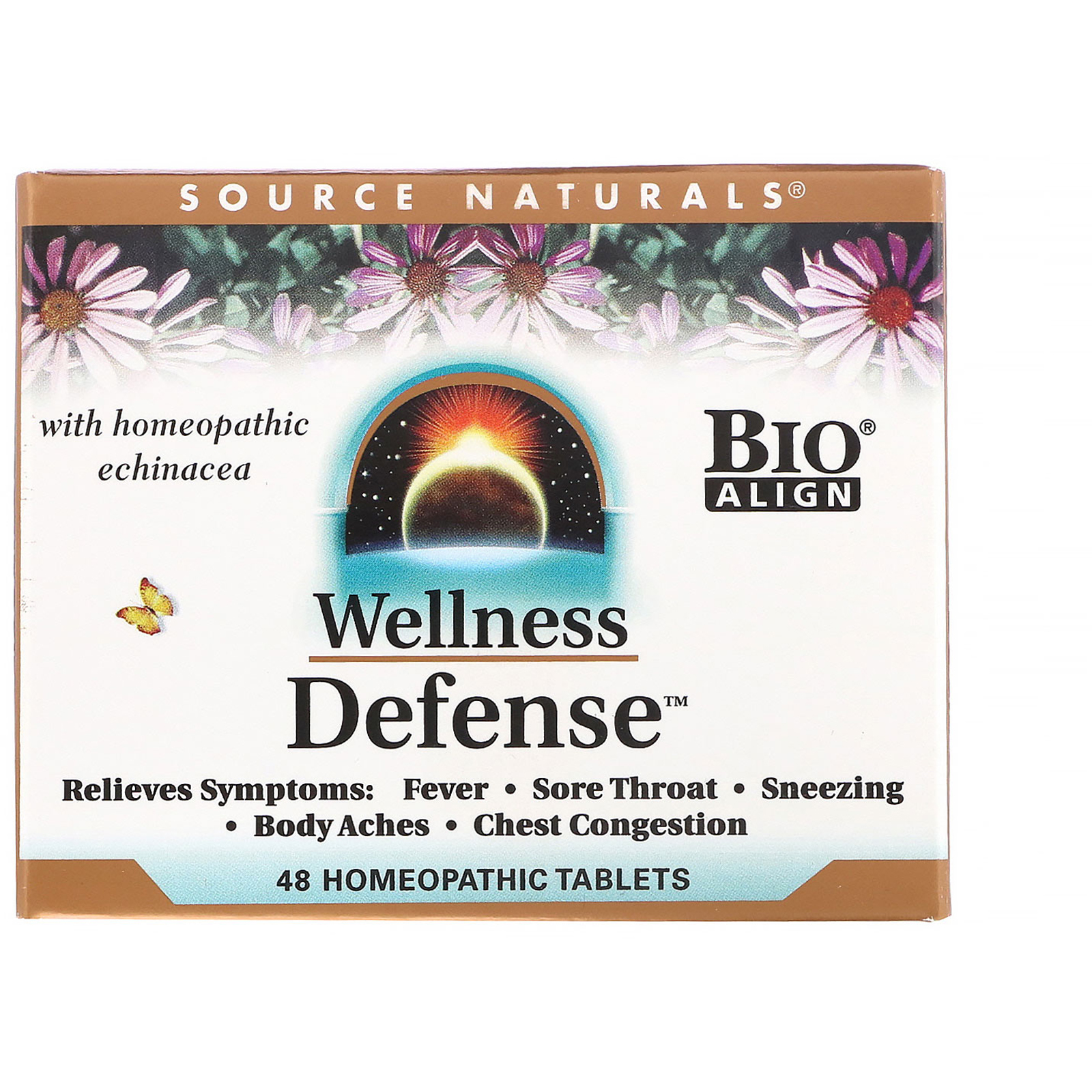 Source Naturals, Wellness Defense, 48 Homeopathic Tablets - iHerb com