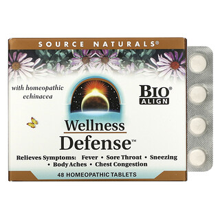 Source Naturals, Wellness Defense, 48 Homeopathic Tablets