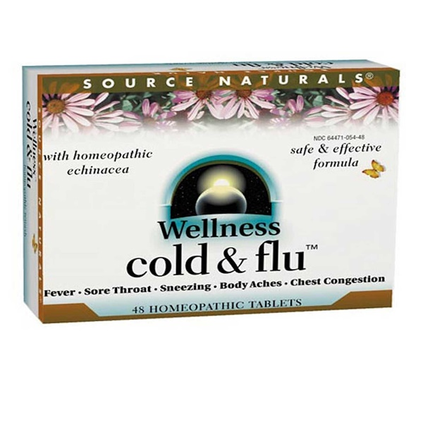 Source Naturals, Wellness Cold & Flu, 48 Homeopathic Tablets