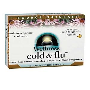 Source Naturals, Оздоровительное средство от гриппа, 48 гомеопатических таблеток