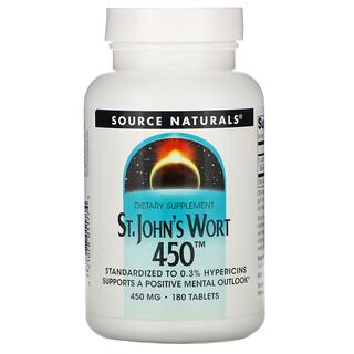 Source Naturals, St. John's Wort 450, 450 mg, 180 Tablets