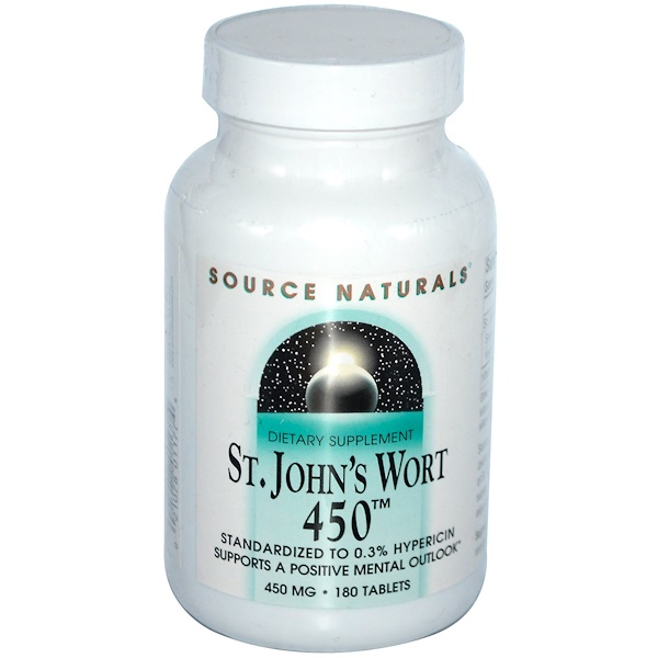 Source Naturals, St. John's Wort 450, 450 mg, 180 Tablets