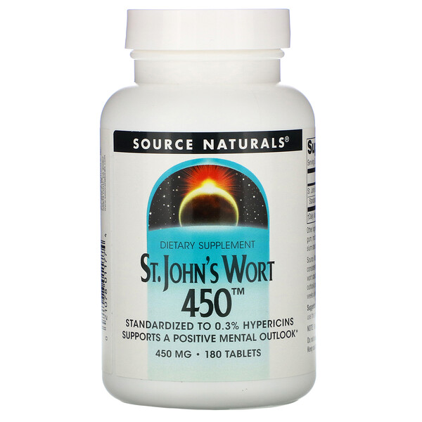 St. John's Wort 450, 450 mg, 180 Tablets