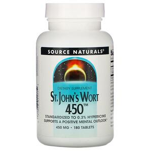 Сорс Начэралс, St. John's Wort 450, 450 mg, 180 Tablets отзывы