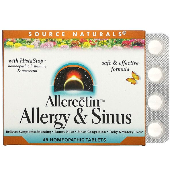 Allercetin, Allergy & Sinus, 48 Homeopathic Tablets