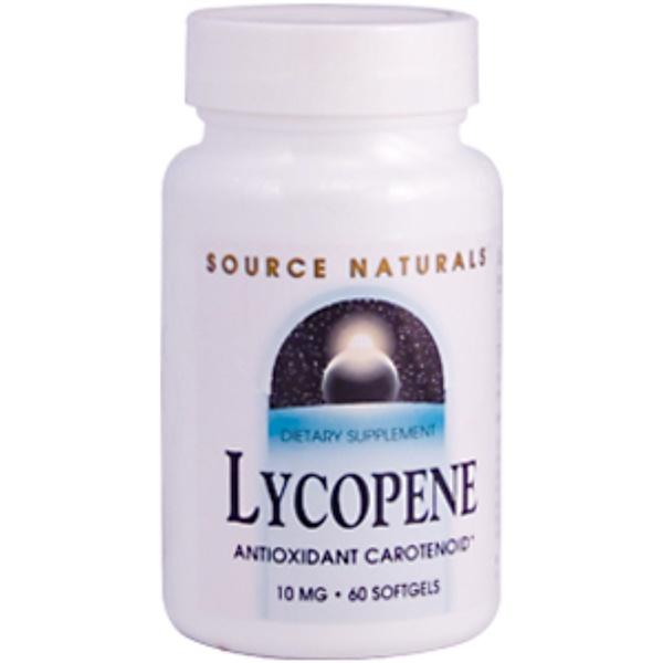 Source Naturals, Lycopene, 10 mg, 60 Softgels (Discontinued Item)