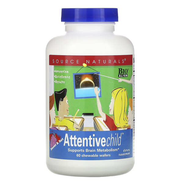 Attentive Child, 60 obleas masticables