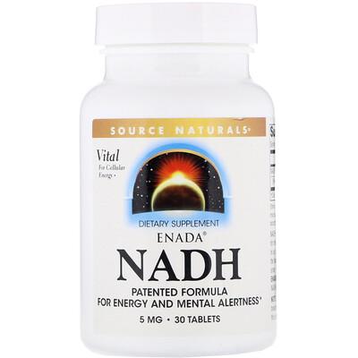 Source Naturals Никотинамидадениндинуклеотид ENADA, 5 мг, 30 таблеток  - Купить