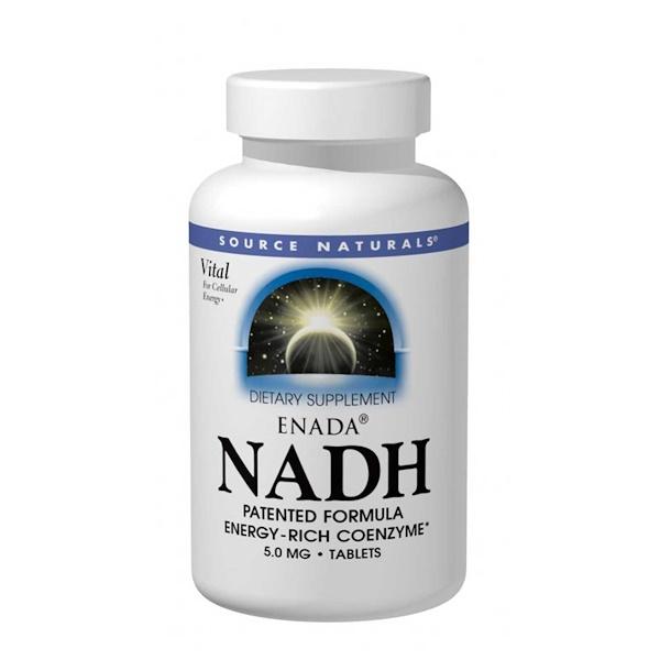 Source Naturals, ENADA NADH, 5.0 mg, 30 Tablets
