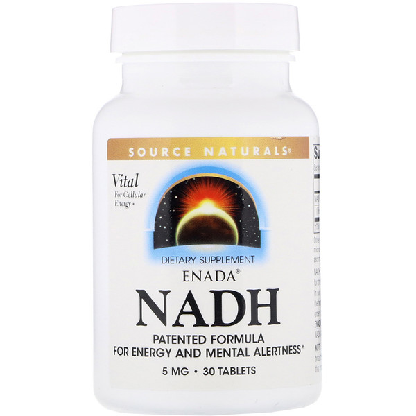 Source Naturals, ENADA NADH, 5 mg, 30 Tabletas
