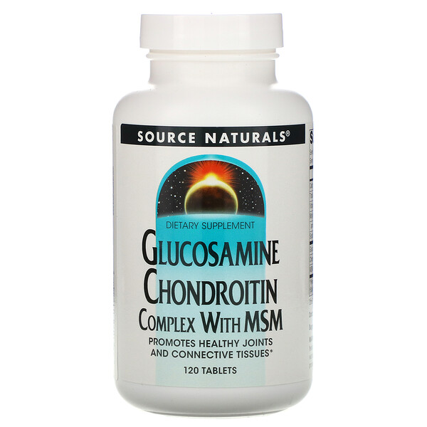 Source Naturals, Glucosamine Chondroitin Complex with MSM, 120 Tablets