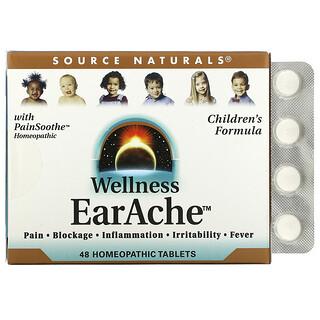Source Naturals, Wellness, EarAche, 48 Homeopathic Tablets