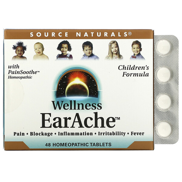 Source Naturals, Wellness, EarAche, 48 Homeopathic Tablets
