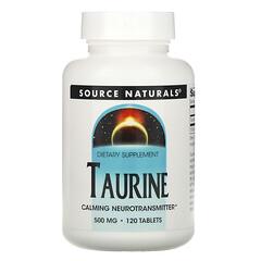 Source Naturals, 牛磺酸,500 毫克,120 片