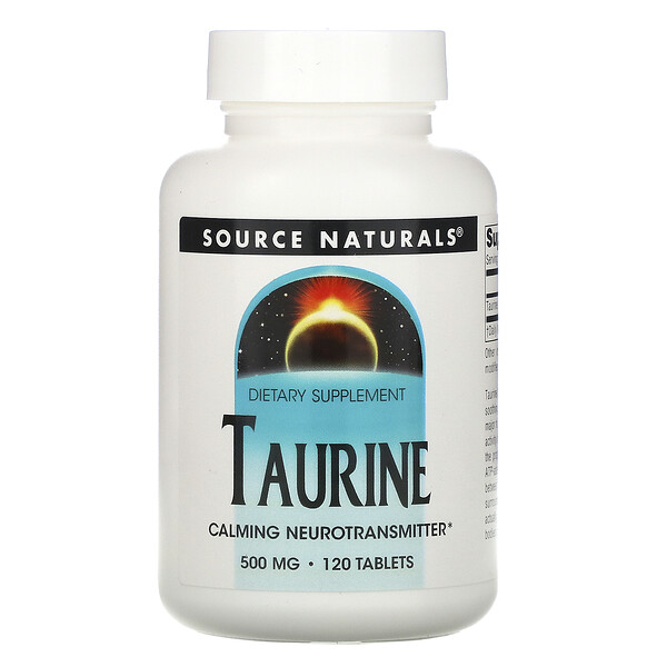 Taurine, 500 mg, 120 Tablets