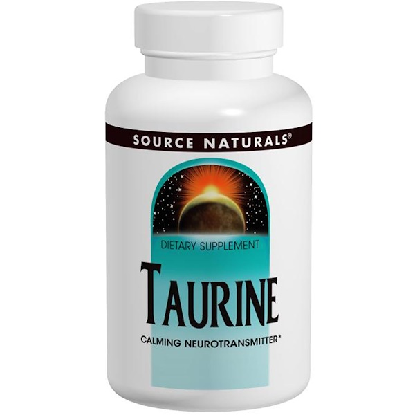 Source Naturals, Taurina, 500 mg, 120 tabletas