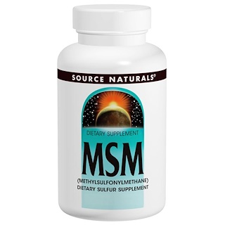 Source Naturals, MSM, 1000 mg, 120 Tablets