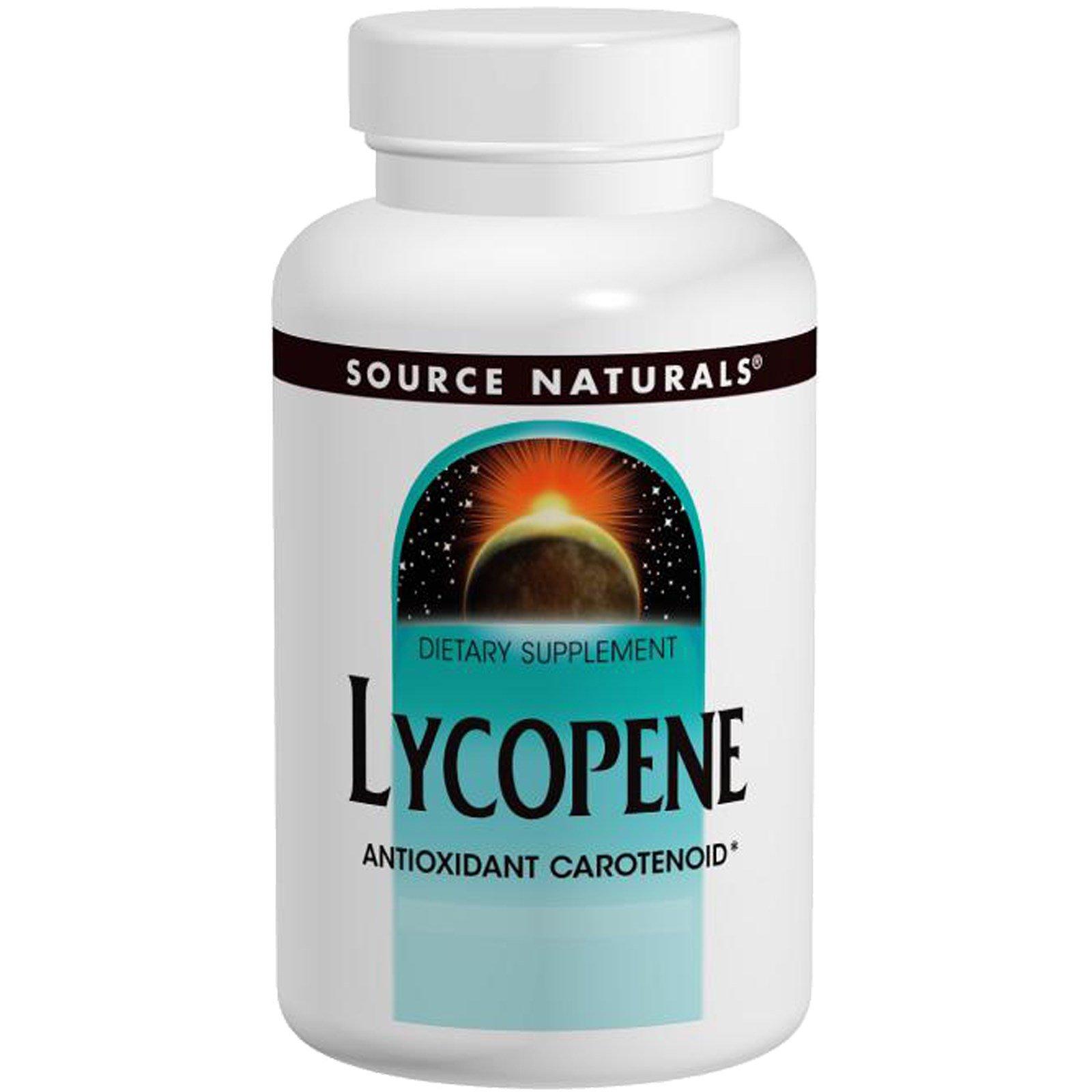 Source Naturals, Ликопин, 15 мг, 60 гелевых капсул