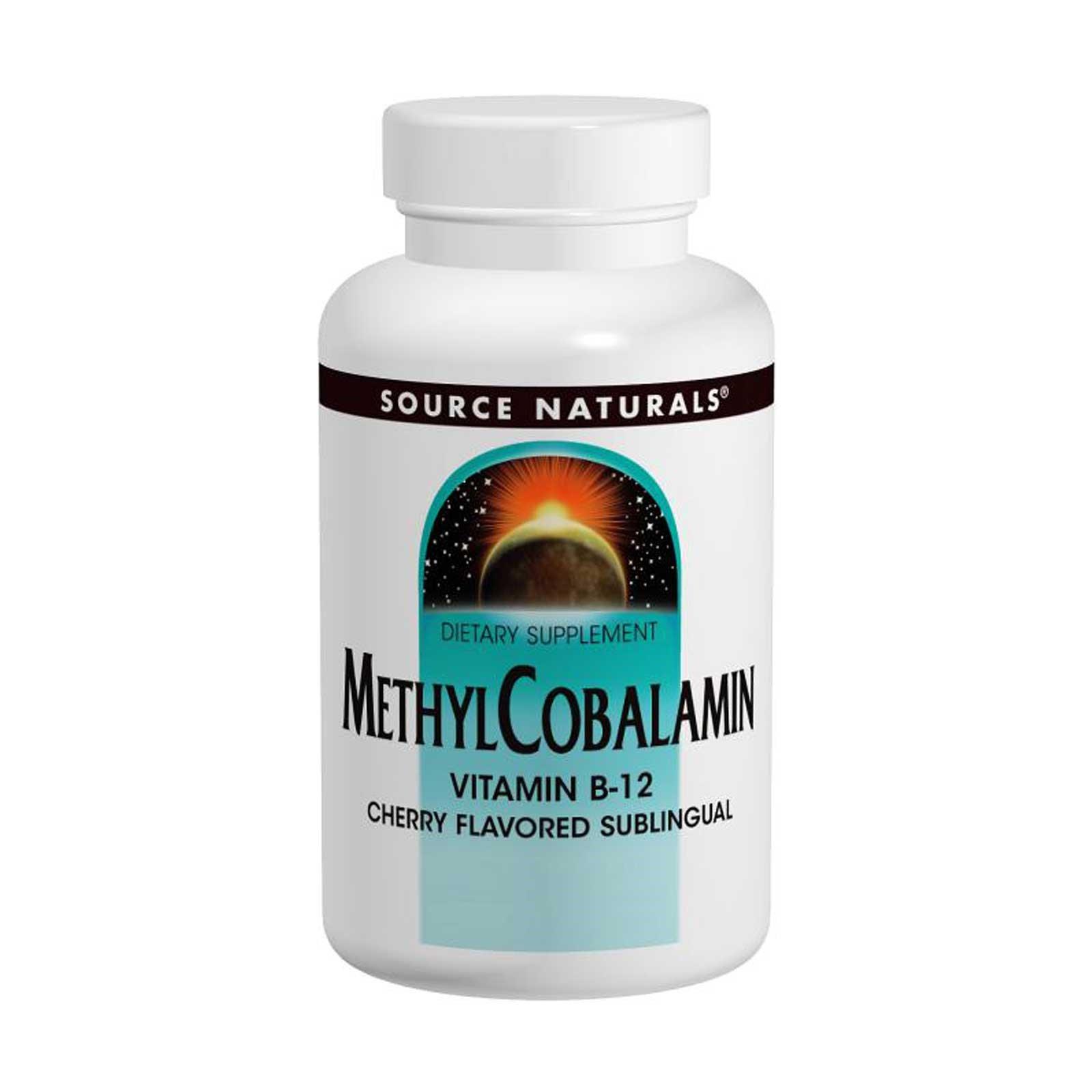 Source Naturals, Метилкобаламин, со вкусом вишни, 1 мг, 120 пастилок