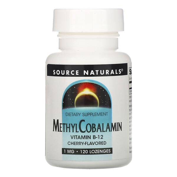 Метилкобаламин, со вкусом вишни, 1 мг, 120 пастилок