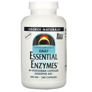 Source Naturals, Daily Essential Enzymes, essenzielle Enzyme für jeden Tag, 500mg, 240Kapseln