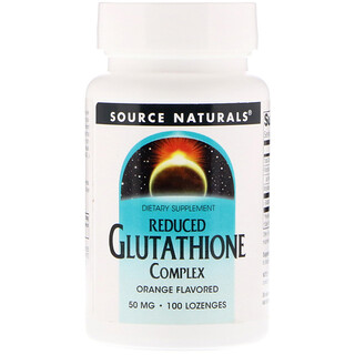 Source Naturals, Reduced Glutathione Complex, Orange Flavored, 50 mg, 100 Lozenges