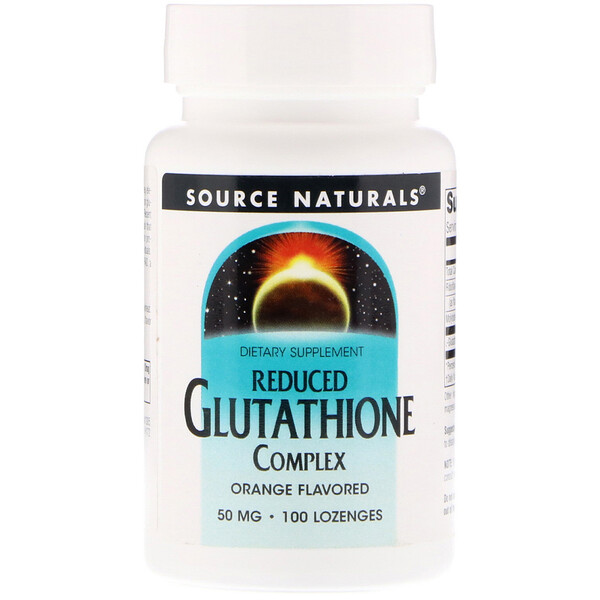 Reduced Glutathione Complex, Orange Flavored, 50 mg, 100 Lozenges