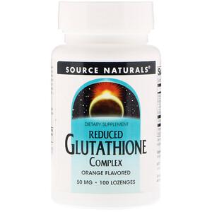 Сорс Начэралс, Reduced Glutathione Complex, Orange Flavored, 50 mg, 100 Lozenges отзывы покупателей