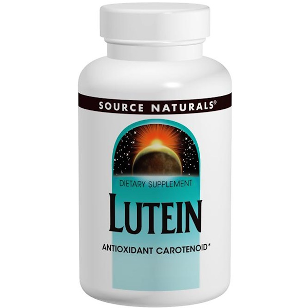 Source Naturals, Lutein, 20 mg, 60 Capsules