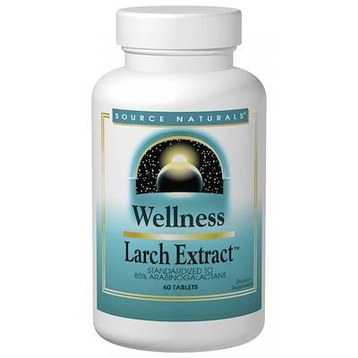 Купить Source Naturals Wellness, Экстракт лиственницы, 60 таблеток