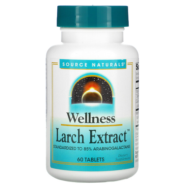 Source Naturals, Wellness, Larch Extract, 60 Tablets
